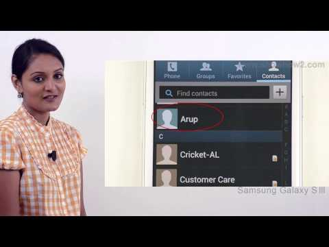 Samsung Galaxy S3 - Add Contact To Favorites From Contacts List - Preview
