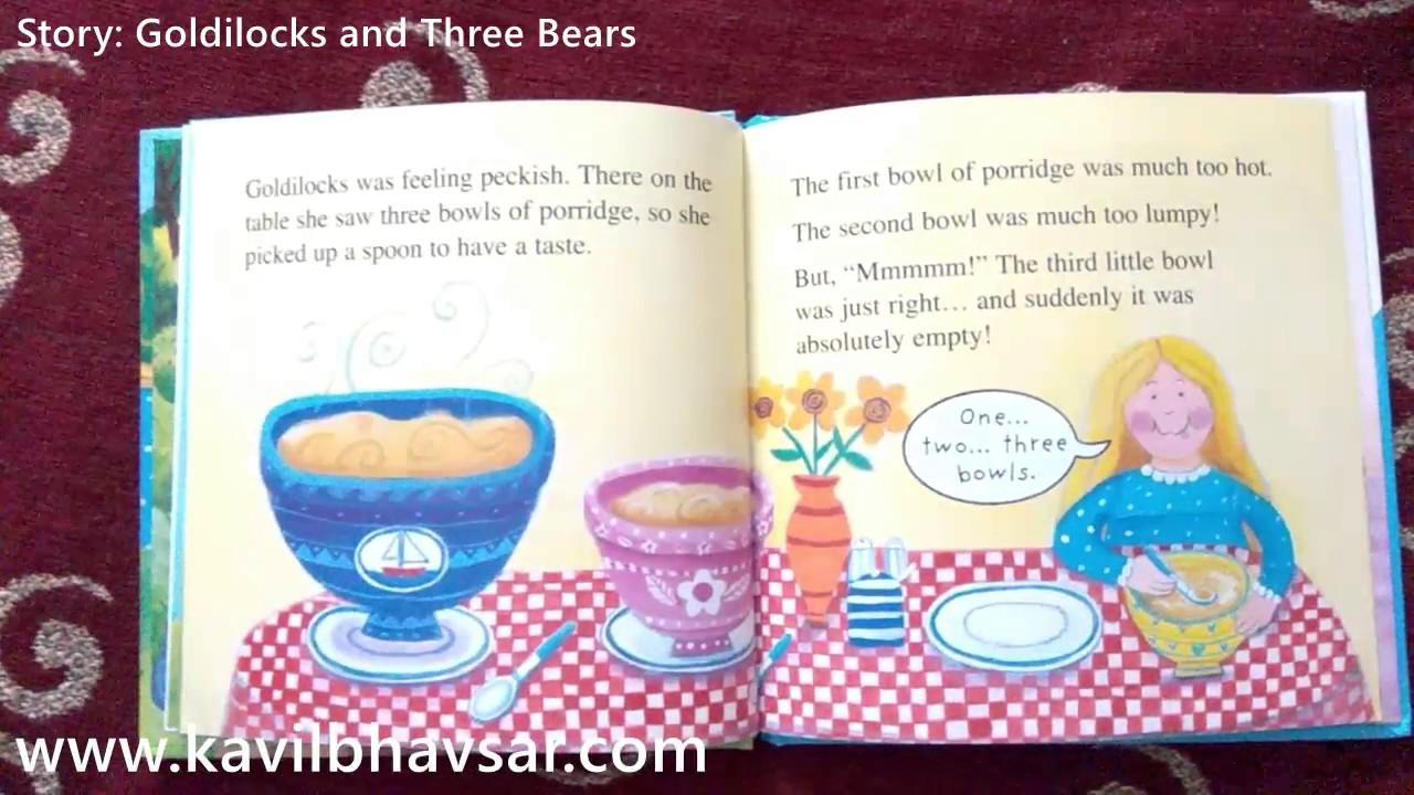 English Story Goldilocks And The Three Bears Ladybird Children