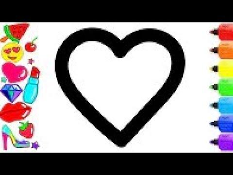 Coloriage Etoile Et Coeur.Coeur Etoile Diamant Couleurs Du Soleil Pour Les Enfants Avec Des