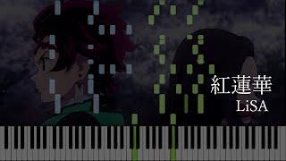 Gurenge [紅蓮華] - LiSA / 鬼滅の刃OP (Synthesia)