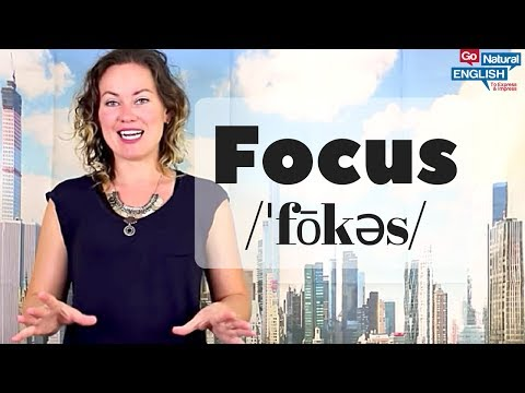 "How to Pronounce ""Focus"" - American English Speaking Tip"
