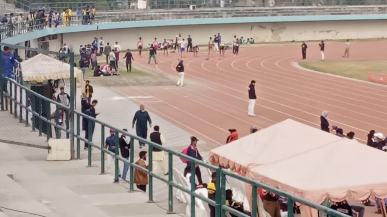 Muhammad Ali bharwana win 100m Pakistan junior national