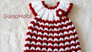 😍 ÇOK TATLI 👗 Elbise Lif Modeli Yapımı | Dress Washcloth Pattern Knitting Crochet How To
