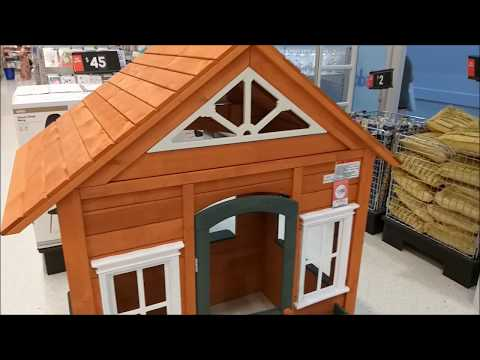 Wooden Cubby House Review | Kmart | Keep the kids entertained