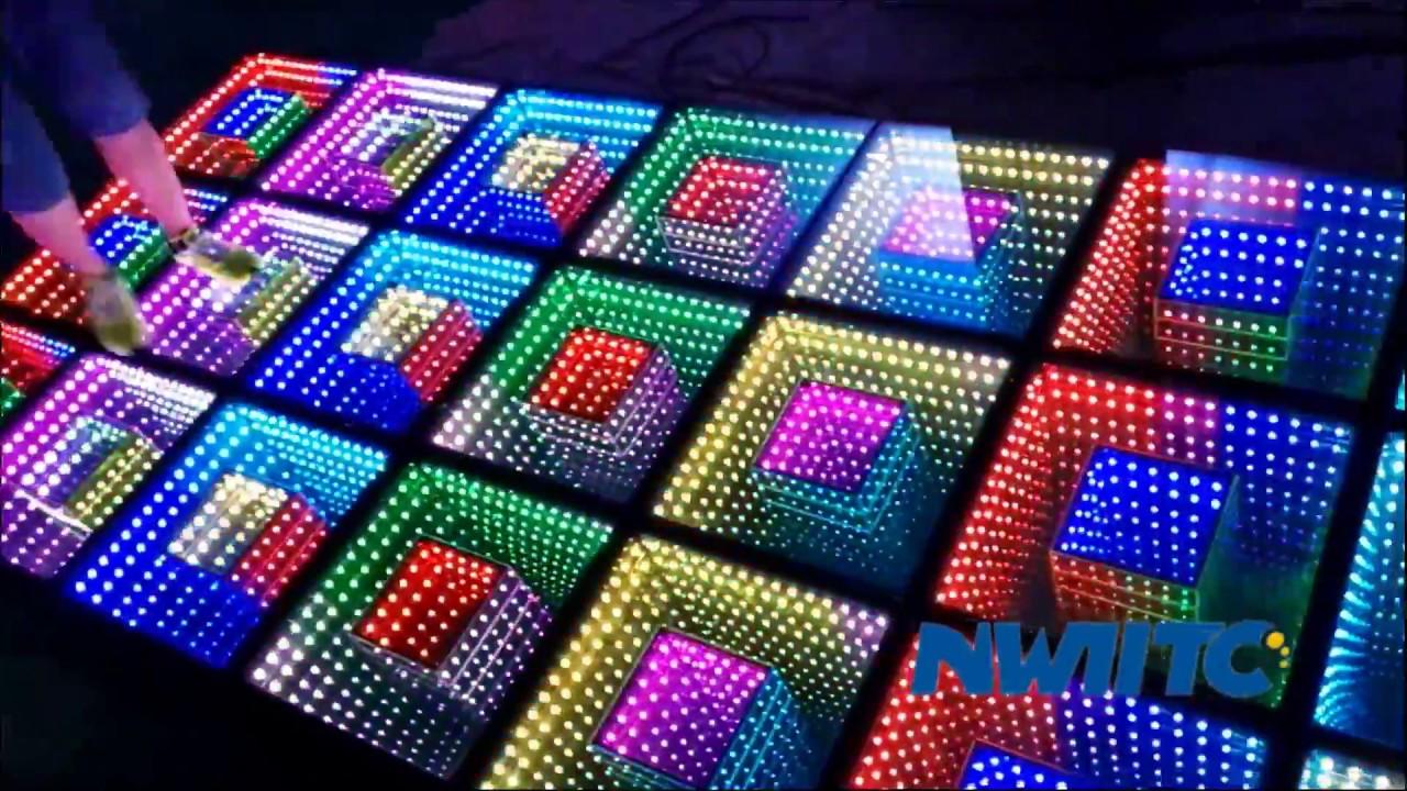 Wedding night club bar stage panel tile portable mat light up ...