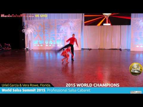 WSS15 Feb7. Pro Salsa Cabaret World Champions Uriel Garcia & Vera Rowe, Florida. REC 4K UHD.