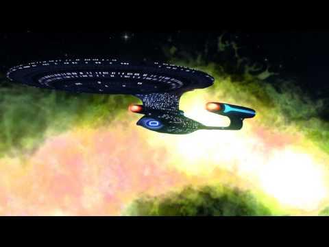 Enterprise D exploring the Universe