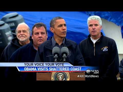 President Obama Tours New Jersey Storm Damage