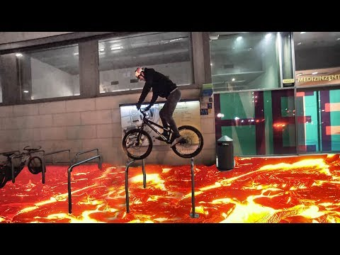 THE FLOOR IS LAVA CHALLENGE on bikes |SickSeries#34