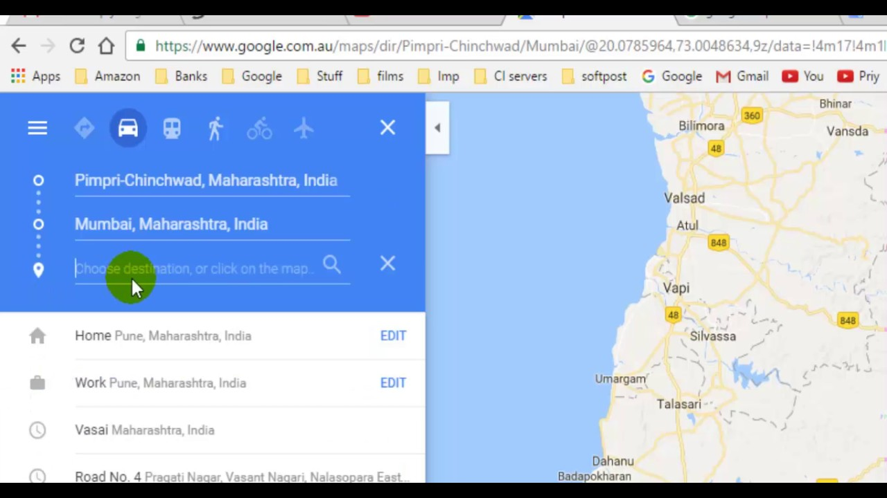 How to add more destinations in Google maps - YouTube Google Maps Add More Destinations on