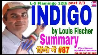 Indigo by Louis Fischer Summary in hindi lesson 5 Flamingo class 12