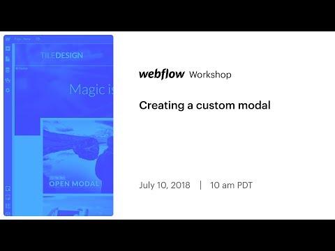 Creating a custom modal