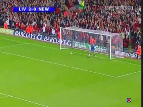 Xabi Alonso Great Goal from Own Half Liverpool v Newcastle