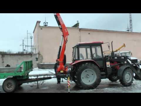 Трактор Беларус 92П с краном-манипулятором Fassi F95A.0.24 (ф-л Лидские электрические сети)