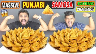 PUNJABI SAMOSA EATING CHALLENGE | PUNJABI SAMOSA THALI EATING COMPETITION | Food Challenge (293)