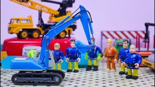 Toys review and learning name and sounds Construction vehicles | Excavator ,Crane truck , Dump truck