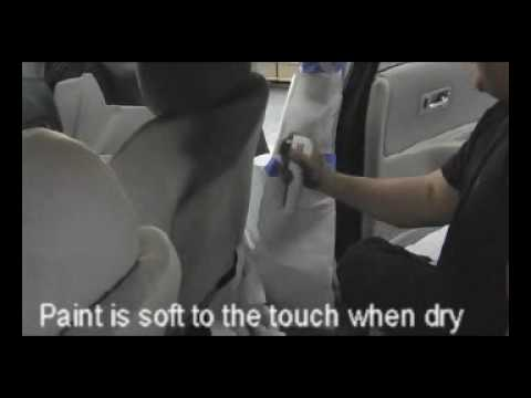 do it yourself car interior upgrade using fabric spray paint from. Black Bedroom Furniture Sets. Home Design Ideas