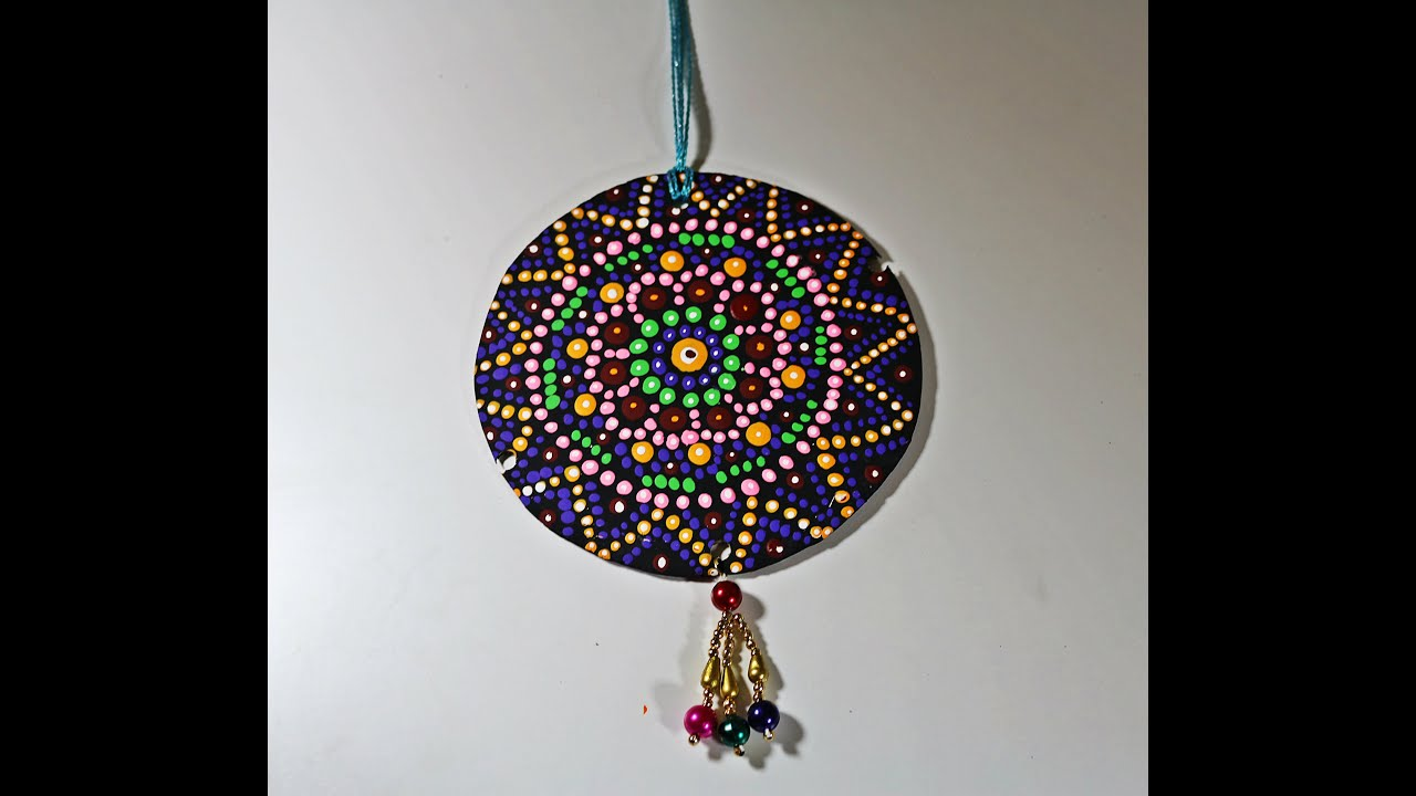 Recycled Diy Cardboard Hanging With Dotted Mandala
