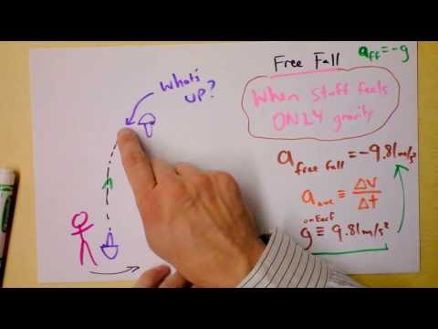 Free Fall Acceleration Explained, or COULDN'T YOU FIND AN ORANGE OR SOMETHING?!? | Doc Physics