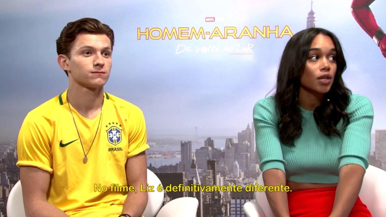 Homem-Aranha: De Volta ao Lar - Entrevista Exclusiva com Tom Holland e Laura Harrier (Legendado)