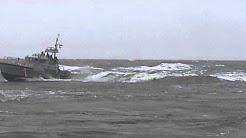 Navigating indian river inlet in rough seas