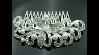 Презентация свадебных украшений. Свадебные гребни оптом.