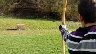 Yew Longbow Slowmotion- Eibenlangbogen 2