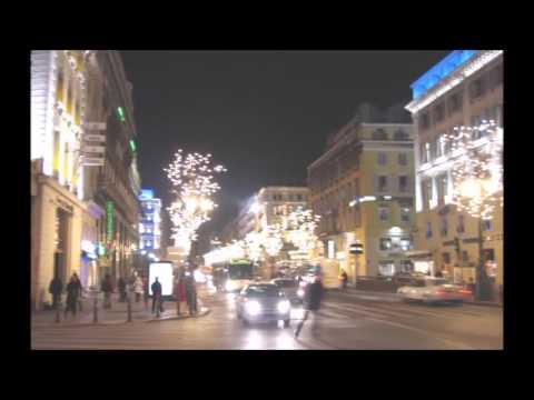 Le Vieux Port de Marseille, le soir, au mois de Décembre 2005