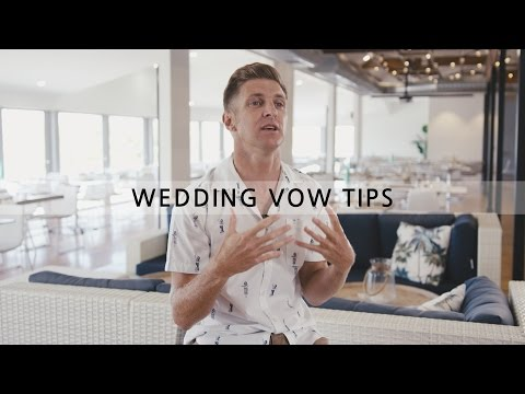 Benjamin Carlyle Celebrant - How to write awesome wedding vows!