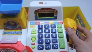 видео Детская касса купить | Игрушки весы | Кассы для детей, игрушечные кассовые аппараты в интернет-магазине Антошка