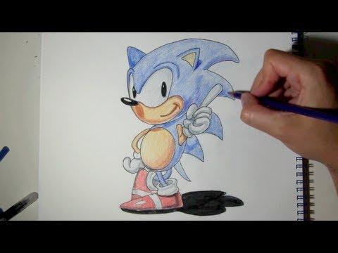 Sonic coloring page sonic the hedgehog coloring pages watch how to draw. Comment dessiner Sonic etape par etape - Dessin de Sonic