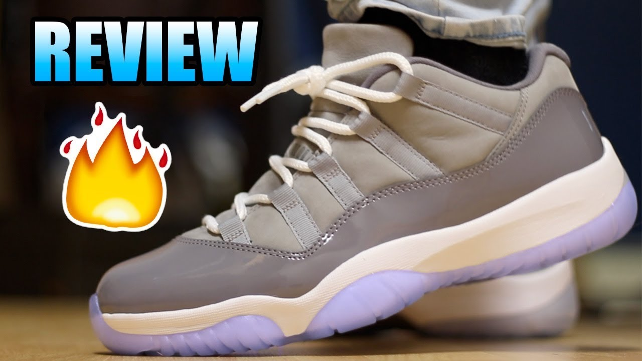 low priced a213e fa512 Jordan 11 Low COOL GREY Review !   Cool Grey Lows On Foot !