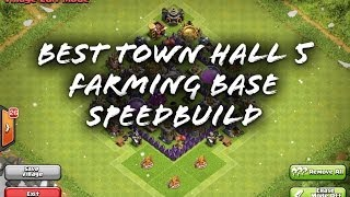Clash Of Clans - Best Town Hall 5 Farming Base Speed Build
