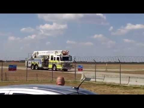 Dallas/ Fort Worth International Airport Fire Department rushing!