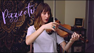 how to achieve violin pizzicato with the bow // violin basics