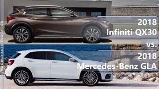 2018 Infiniti QX30 vs 2018 Mercedes-Benz GLA (technical comparison)