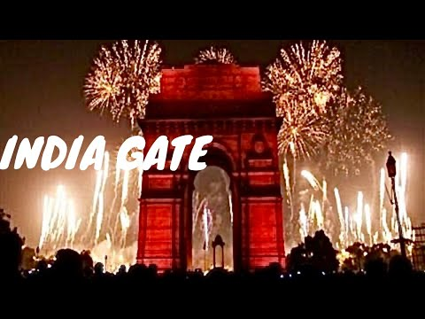 India Gate Amar Jawan Rajpath Road New Delhi India *HD*