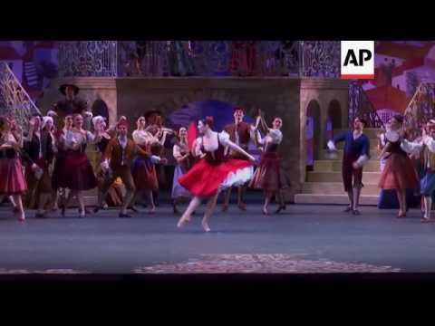 Don Quixote ballet takes to the stage at the Bolshoi