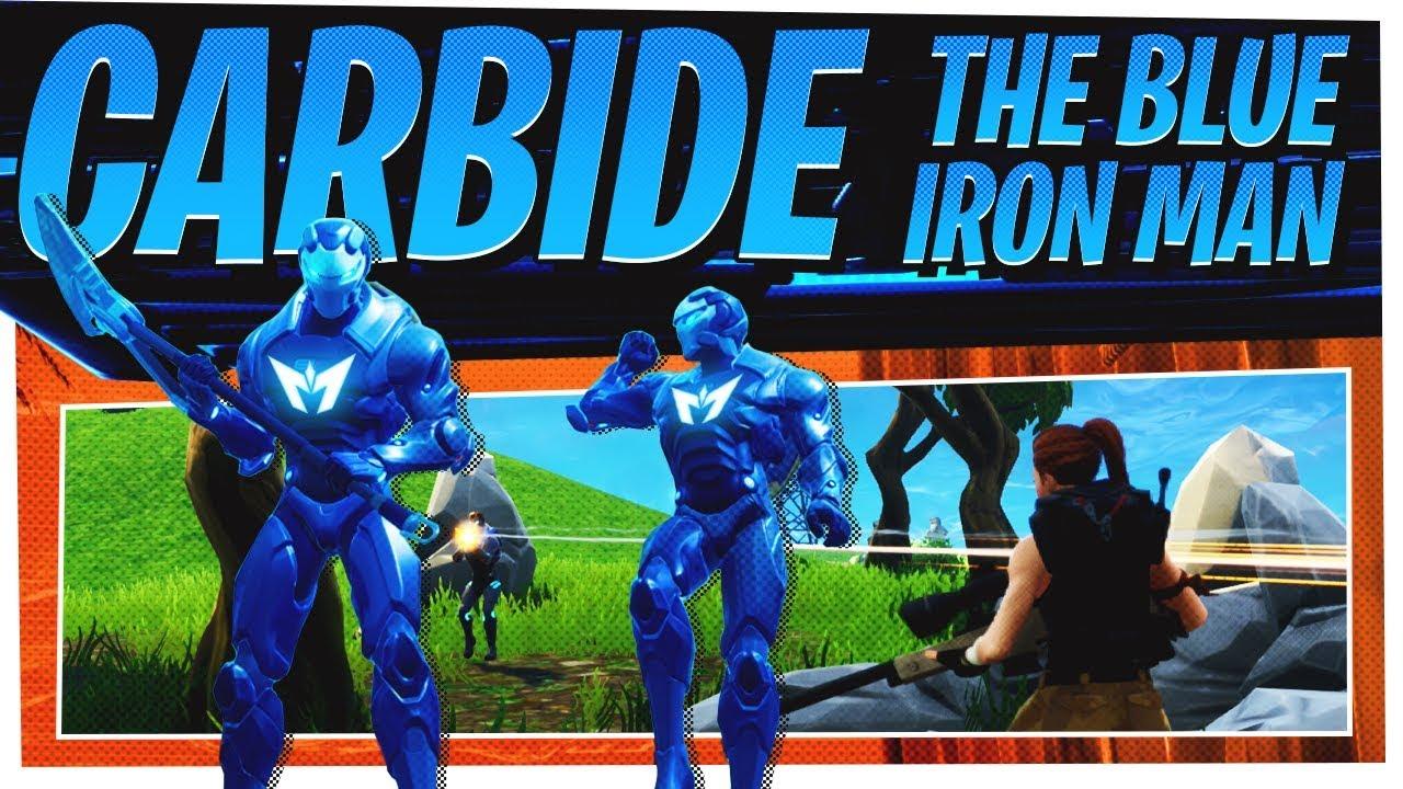 The New Full Carbide Skin Set Aka Blue Ironman Fortnite Season 4