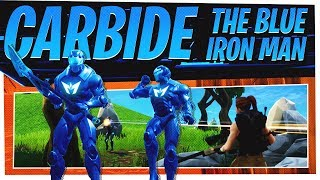 The NEW Full Carbide Skin Set aka Blue Ironman - Fortnite Season 4 Gameplay