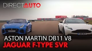 Aston Martin DB11 V8 vs Jaguar F-Type SVR