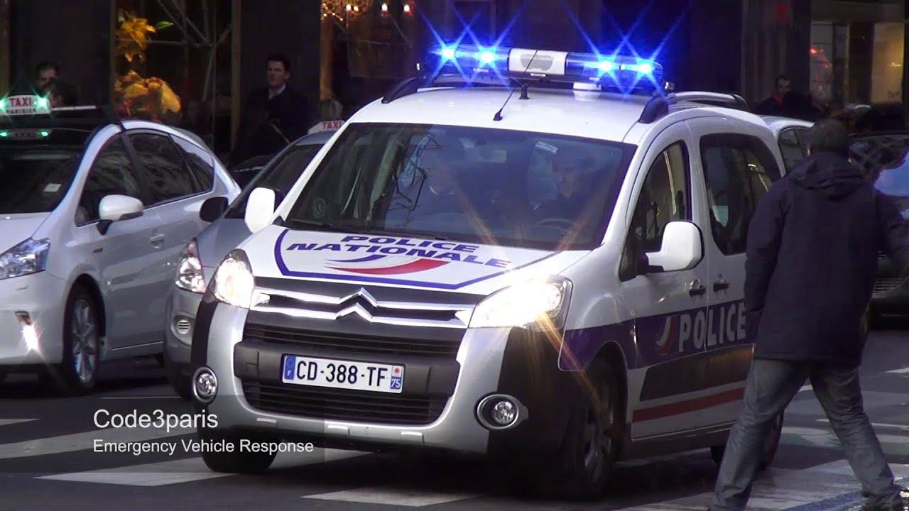 Voitures de police collection police cars responding in paris collection youtube - Image de voiture de police ...