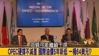 2014.12.03【挑戰新聞】OPEC硬撐不減產 國際油價5年新低 一桶64美元!?