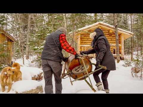 She's Here! | Wilderness Off Grid Living | Water and Wood