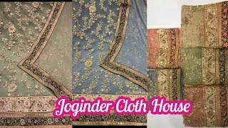 Net Suit With Heavy Front Work And Pure Dupatta|Joginder Cloth House