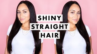 How to Get Shiny Straight Hair | Luxy Hair