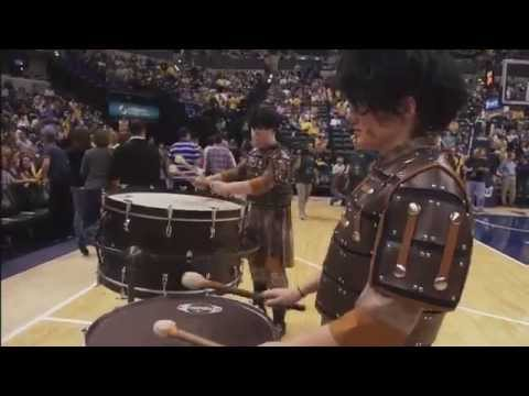 """Heart of a Warrior"" Center Grove Percussion at Pacers Playoffs Halftime"