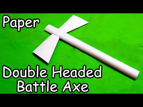 How to make a Paper Double Headed Battle Axe - (Simple Way)