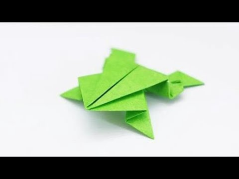Origami Jumping Frog How To Make A Paper Frog That Jumps High And