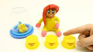 Yellow Baby in SKILL TEACHING GAME - Stop Motion Cartoons For Kids
